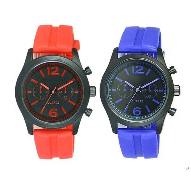 sport silicone quartz watch